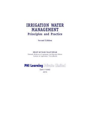 IRRIGATION WATER MANAGEMENT PDF