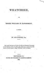 What cheer: or, Roger Williams in banishment. A poem