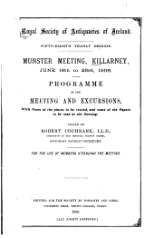 Programme of Excursions and the Meeting