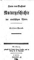 Herrn von Buffons Naturgeschichte der vierf    igen Thiere PDF
