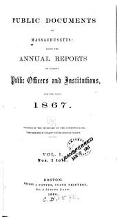 Public Documents of Massachusetts: Volume 1
