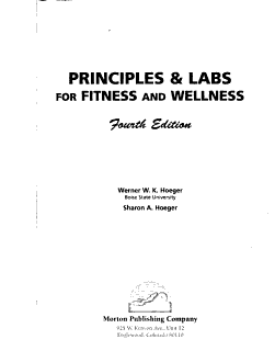 Principles   Labs for Fitness and Wellness Book