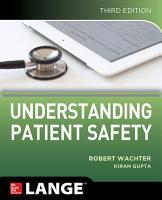 Understanding Patient Safety  Third Edition PDF