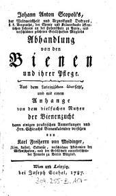 Johann Anton Scopoli's ... Abhandlung von den Bienen und ihrer Pflege