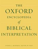 Oxford Encyclopedia of Biblical Interpretation PDF