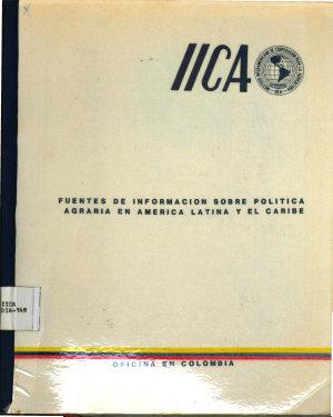 Fuentes de informaci  n sobre pol  tica agraria en Am  rica Latina y el Caribe PDF