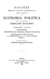 Trattato di scienza delle finanze: Volume 1