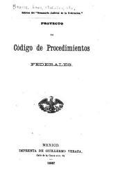 Proyecto de código de procedimientos federales
