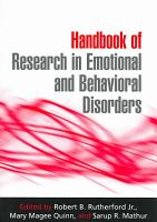 Handbook of Research in Emotional and Behavioral Disorders PDF
