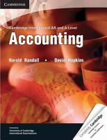 Cambridge International AS and A Level Accounting Textbook PDF