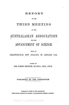 Report of The   meeting of the Australasian Association for the Advancement of Science PDF