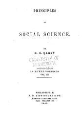 Principles of Social Science: Volume 3