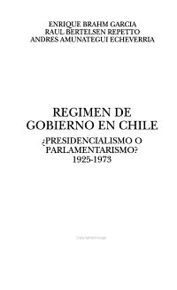 R  gimen de gobierno en Chile PDF
