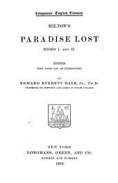 Milton's Paradise Lost: Books I and II., Book 1