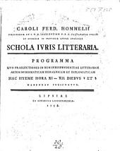 Programm Schola juris litteraria