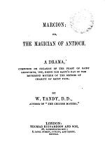 Marcion, Or, The Magician of Antioch