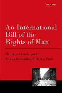 An International Bill of the Rights of Man Book