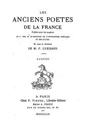 Gaufrey: Chanson de Geste, Volume3