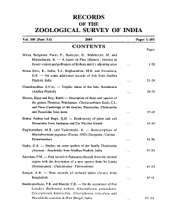 Records of the Zoological Survey of India PDF