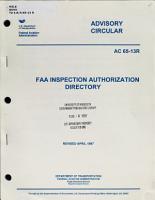 FAA Inspection Authorization Directory PDF