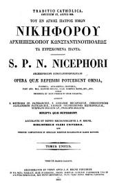 Patrologiae cursus completus ...: Series graeca, Volume 100