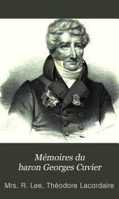 Mémoires du baron Georges Cuvier
