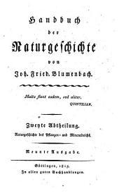 Handbuch der Naturgeschichte. 9. Ausg: Band 2