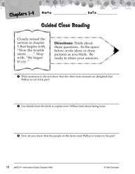 Charlotte S Web Close Reading And Text Dependent Questions Book PDF