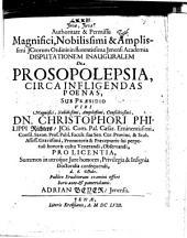 Disp. inaug. de prosopolepsia circa infligendas poenas