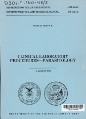 Clinical Laboratory Procedures parasitology PDF