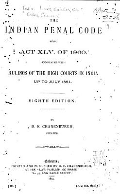 The Indian Penal Code Being Act XLV of 1860 PDF