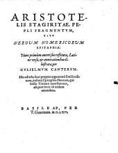 Pepli fragmentum sive heroum Homericorum epitaphia