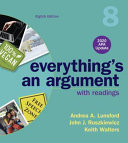 Everything s an Argument with Readings  2020 APA Update PDF
