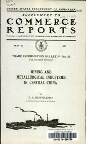Mining and metallurgical industries in central China