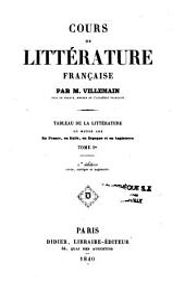 Cours de littérature française: Tableau de la littérature du moyen-âge en France, en Italie, en Espagne et en Angleterre, Volume1
