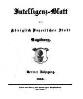 Intelligenz-Blatt und wöchentlicher Anzeiger der königlich baierischen Stadt Augsburg: 1850