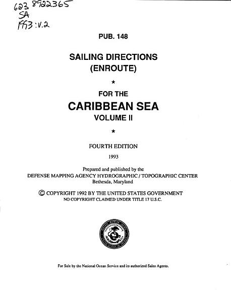 Sailing Directions  enroute  for the Caribbean Sea PDF