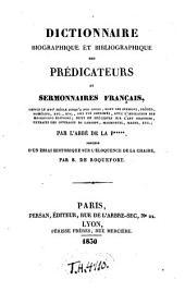 Dictionnaire biographique et bibliographique des prédicateurs et sermonnaires français