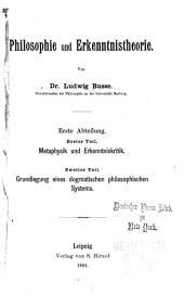 Philosophie und erkenntnistheorie