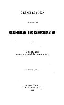 Beschrijvende catalogus der pamfletten verzameling van de boekerij der Romonstrantsche kerk te Amsterdam PDF