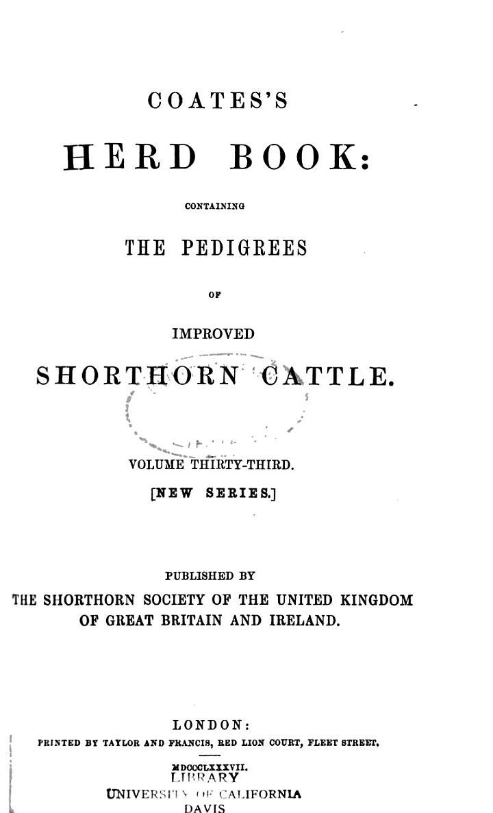 Coates's Herd Book