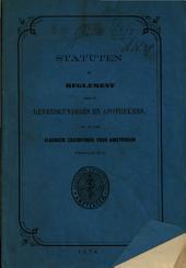 Statuten en reglement voor de geneeskundigen en apothekers, in het Algemeen Ziekenfonds voor Amsterdam werkzaam: Volume 1