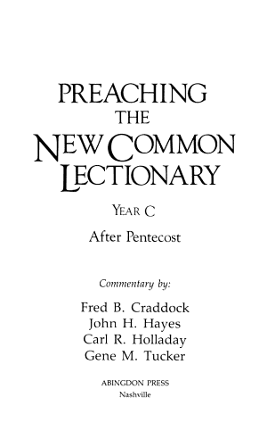 Preaching the New Common Lectionary PDF