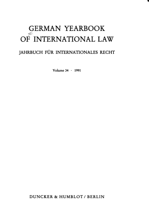 Jahrbuch F  r Internationales Recht PDF