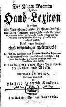 Des klugen Beamten t  gliches Hand Lexicon PDF