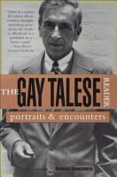 The Gay Talese Reader PDF