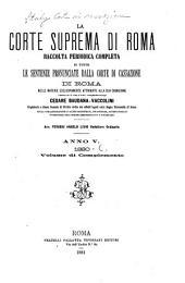 La Corte suprema di Roma: raccolta periodica delle sentenze pronunciate dalla Corte di cassazione di Roma nelle materie esclusivamente attribuite alla sua cognizione, Parte 2