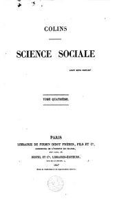 Science sociale: Volume4