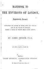 Handbook to the Environs of London