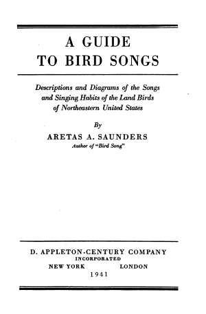 A Guide to Bird Songs